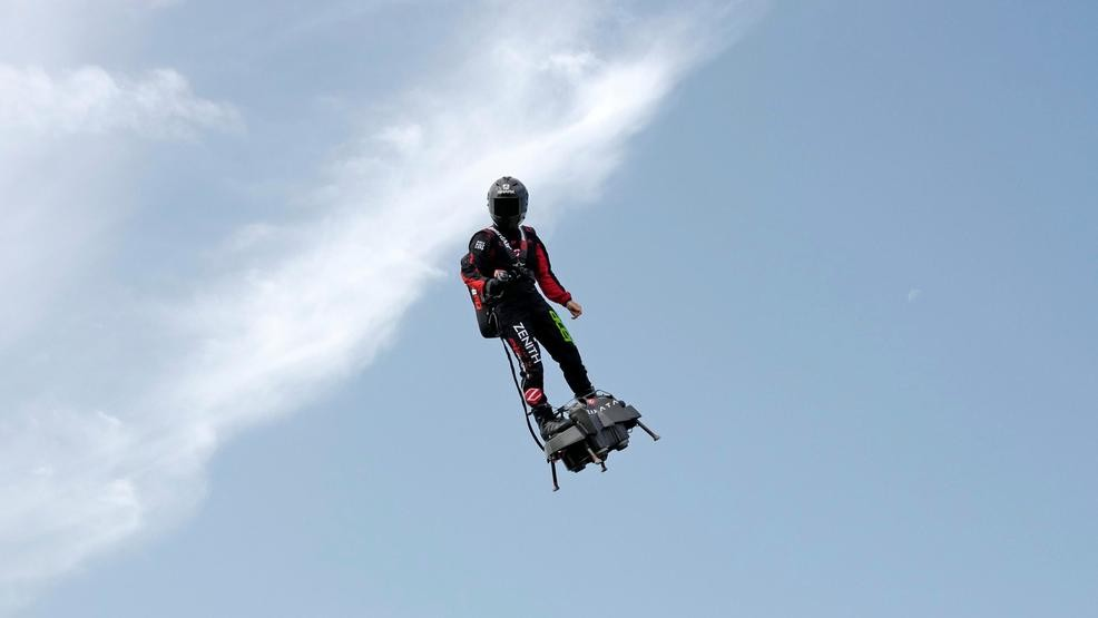 Frenchman to try flying across Channel on his flyboard | WTVCFOX